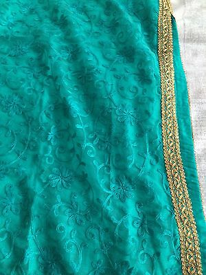 New Indian Asian Turquoise And Gold dress Churidar And kameez 4