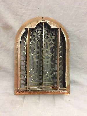 Antique Cast Iron Arch Decorative Heat Grate Register Stars 8X12 Dome Vtg 28-19C 7