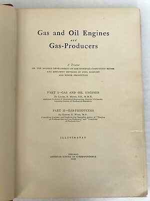 Gas and Oil Engines And Gas-Producers By Marks-Wyer 1908 Hit Miss Book 3