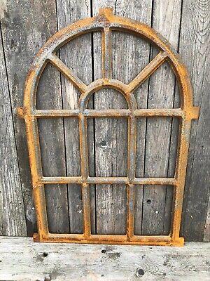 cast iron Arch industrial style window frame - 94x67cm Mirror frame No glass 2
