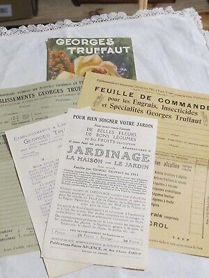 Catalogue Georges Truffaut Automne 1927 + 4 feuillets  bulbes rosiers engrais 2