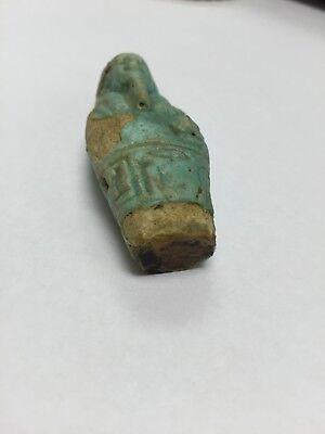 Unique Turquoise Ushabti Amulet 715BC-332BC RARE
