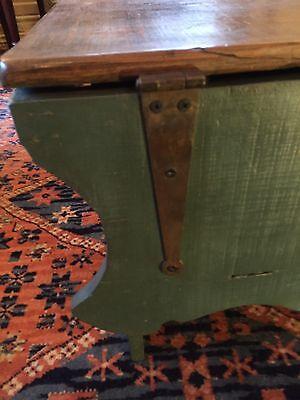 Early Six Plank Pine Footstool Storage Stool Sewing Storage Box 9