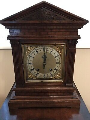 Antique Bracket Clock Winterhalder & Hofmeier Ting Tang Clock 11