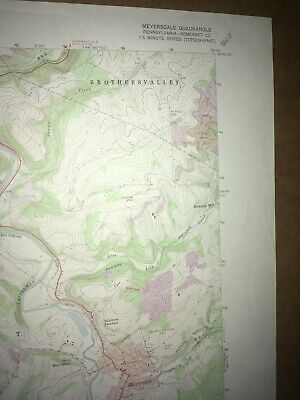 Meyersdale PA Somerset Co USGS Topographical Geological Survey Quadrangle Map 3