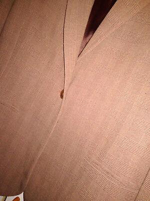 9 sur 12 Veste Homme JODHPUR Taille 48 Marron motifs prince de galles tissu  fluide Men f3b613470dc7