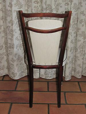 02C12 SALLE A Manger Vintage 1960 Table Acajou + 4 Chaises Skaï Sur ...