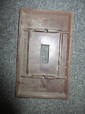 Vintage Bakelite Leviton Brown Switch Plate Cover Mcm 2