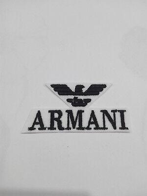 Parche bordado para coser estilo Armani 7/3,5 cm adorno ropa PERSONALIZADA 2
