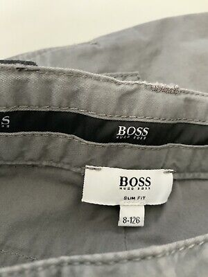 Hugo Boss Boys Slim Fit Jeans, Size Age 8 Years, 126. M, Grey, VGC 8