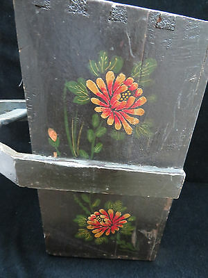 Vintage Large Chinese Hand Painted Knitting/Sewing/Mag Basket 4