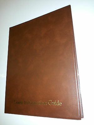 Guest Information Guide Pvc Folder 7 A4 Double Pockets Ref Brown/Gold 2