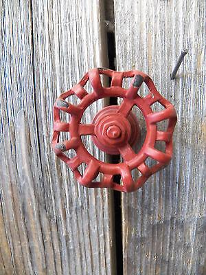 "Lot/Set of 2 Metal Rustic Red 2"" FAUCET HANDLE Drawer Pull Knobs Coat Hooks Door 4"