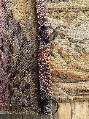 Antique Turn Of The Century Large French Wool Wall Hanging Tapestry 8