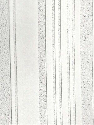 RD7023 Anaglypta Irregular Textured Stripe White Paintable Anaglypta Wallpaper