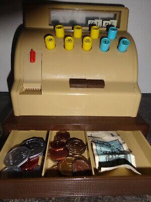 Große Kasse für Kaufladen mit Spielgeld Original 1963 2