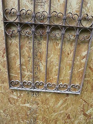 Antique Victorian Iron Gate Window Garden Fence Architectural Salvage Guard J 3