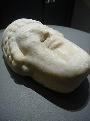 A Roman / Greek   Marble Head Of Hermes ? Propylaios  ??  Circa 1St Century B.c. 11
