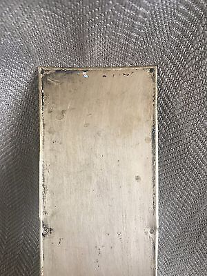 Antique Brass Finger Plate Push Door Plain Simple Reclaimed Salvaged 3