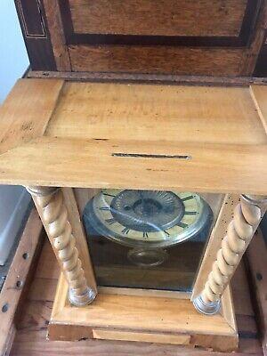 Rare Antique Wurttemburg German Beech Cased Mantle Bracket Clock 11
