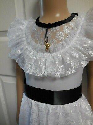 "NEW Wolff Fording Dance Costume Lyrical Ballet White Lace /""Clara/"" Girls szs"