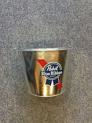PBR Metal Beer Bucket, Bottle Opener & 2 Glasses.  Pabst Blue Ribbon Great Gift! 2