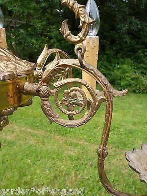 Very Unusual Vintage French 6 arm Bronze Chandelier (WW7134) 6