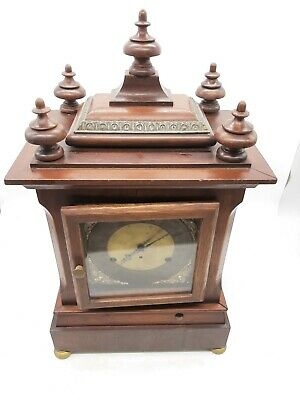 Antique 5 Coil Gong Westminster Chime Mantel Clock 1896 New Haven 10