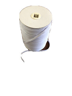 10 Meters 6mm White Elastic - 1/4 Inch - Ideal For Face Masks - Free Postage 3