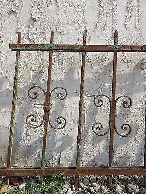 Antique Victorian Iron Gate Window Garden Fence Architectural Salvage #924 2