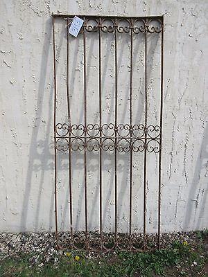 Antique Victorian Iron Gate Window Garden Fence Architectural Salvage Door #343 5