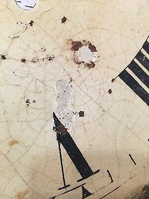 Antique Grandfather Clock Dial Hand Painted Cabin Decoration 1800's 12