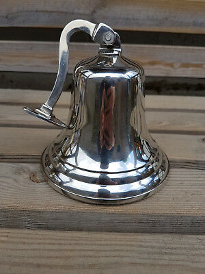 """6"""" Last Orders Wall Mounted Chrome Silver Door Bell Ships Bell  ~ Pub  Bell 2"""