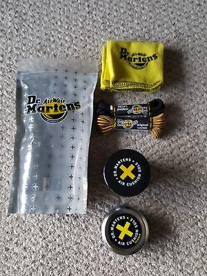 Dr. Martens Shoe Care Kit, Black + Brown Laces, Cloth, Wonder Balsam & Dubbin 10