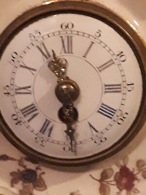 antique porcelain french  mantle clock by Diette Hour 6