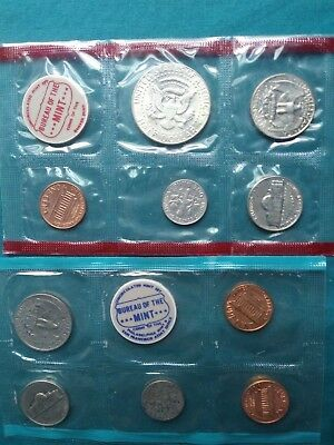 1969 S  U.S. MINT Uncirculated Coin Set Sealed with Envelope #222 3