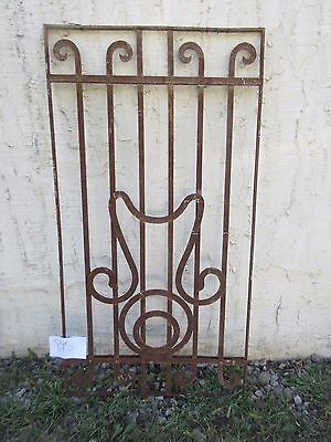 Antique Victorian Iron Gate Window Garden Fence Architectural Salvage #845 5