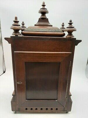 Antique 5 Coil Gong Westminster Chime Mantel Clock 1896 New Haven 8