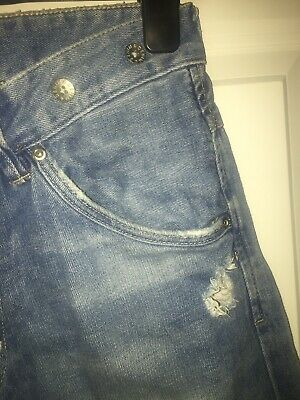 Boys H&M Blue Jeans With Brace Buttons Aged 14+ 2