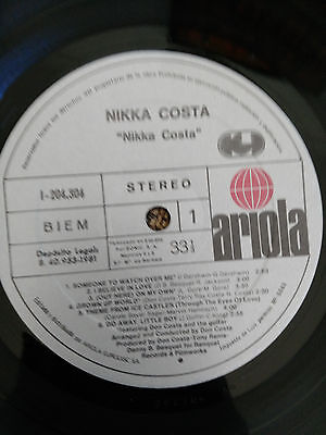 "Nikka Costa Self Titled Lp Vinilo Vinyl 12"" 1981 Spanish Edition Vg/Vg 6"
