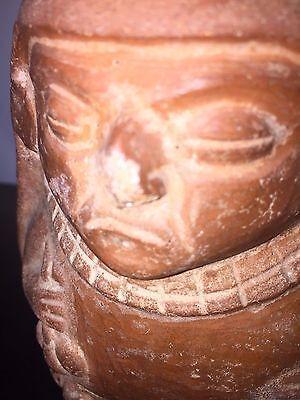 Moche, Dignitary red ware vessel (100-800 AD), Peru 4.5 in L 6.5 in H 4.25 in D 7