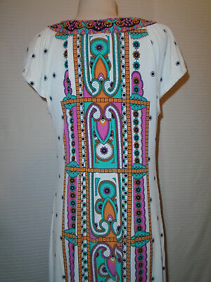 ECI Womans Multi Color Floral Beaded Dress Size 10 6