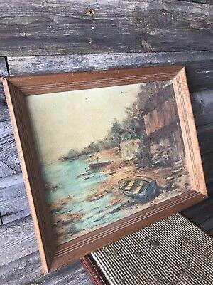 Vintage GRAHL Landscape Oil Painting Rare 2