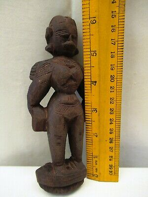 Antique Wooden Doll Hand Crafted Putali Figurine Indian Art Carved Collectibles* 8