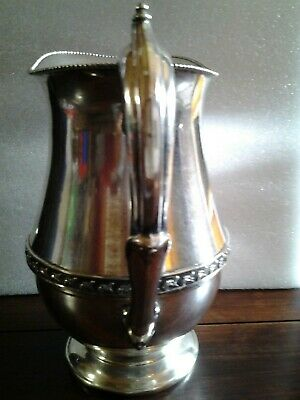 "Vintage Signed ""SHEETS ROCKFORD CO"" 305 Silver Plate Beverage Water Pitcher 8"