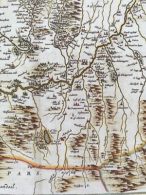 Historic Antique vintage Old Map: Nithsdale, River Nith,  Scotland 1600s REPRINT 7
