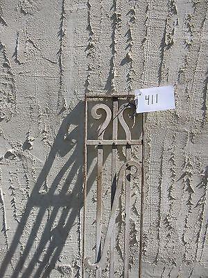 Antique Victorian Iron Gate Window Garden Fence Architectural Salvage Door #411 2