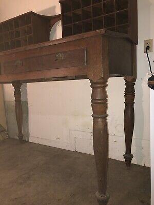 Antique Mail Sorter Post Office Desk 9