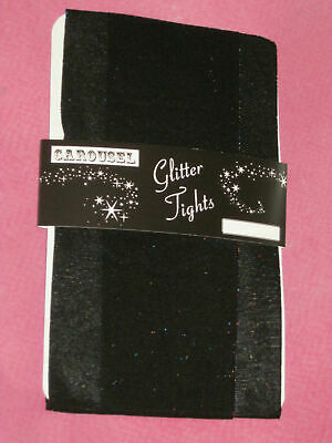 Rainbow Glitter Girls Black Tights. Age 6 7 8 9 10 sparkly party 2