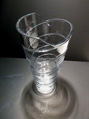 "Rare *VINTAGE* Atlantis Crystal AZTEC Flower Vase 11 3/4"" 2"